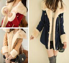 Fashion vogue Womens Thicken Jacket Womens Outerwear Lady Warm Coat