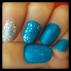 blue & #glitter #nailart #nails #tutorial #manicure