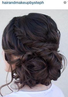 Updo hairstyle with twists and braid - perfect bridal hair