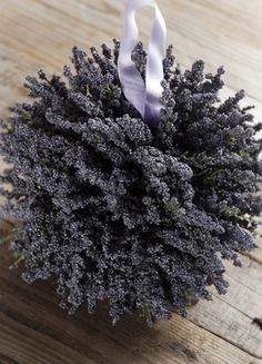 "Large 7"" Lavender Pomander Silk Flower Ball"