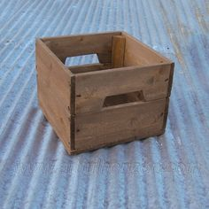 10 Small Reclaimed Wood Crate Primitive Rustic by ArtfulHorizon