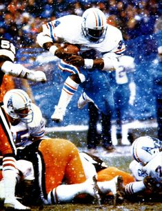 Earl Campbell.  Possibly the greatest player to ever play for the Houston Oilers.