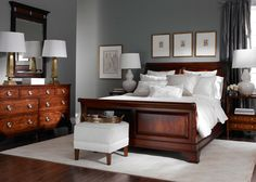 Bedroom Wall Colors with Cherry Furniture . Elegant Bedroom Wall Colors with Cherry Furniture . New Great Cherry Furniture Bedroom Ideas 8428 Dark Wood Bedroom Furniture, Gray Bedroom Walls, Bedroom Colors, Bedroom Sets, Home Bedroom, Trendy Bedroom, Bedroom Carpet, Luxury Furniture, Mahogany Furniture