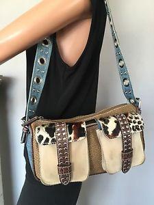 Braccalini Bag Leopard Denim Suede Designer Hip Fashion Gift | eBay