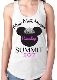 8be2748b27 Cheer Summit 2017 Tank Top with glitter tiara and by KerryKustoms