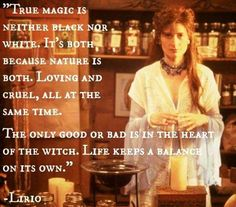 This movie gets a lot of grief because of the portrayal of magick, but they got this part right Pagan Quotes, Witch Quotes, Witch Meme, Gypsy Quotes, Wicca Witchcraft, Pagan Witch, Magick Book, Gypsy Witch, Magick Spells