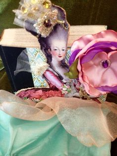 Marie Antoinette scented Lavender mix media by buttonsandbottles