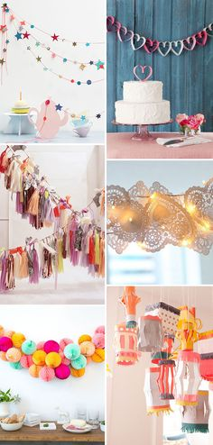 Pretty paper garlands - the perfect alternatives to bunting | www.onefabday.com