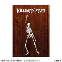 Halloween Skeleton Fever Invitation on Wood Adult Halloween Invitations, Adult Halloween Party, Halloween Make Up, Rustic Halloween, Halloween Design, Halloween Skeletons, Halloween Costumes, Wood Invitation, Invitation Cards