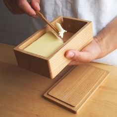 Butter box made from wood