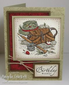 WT448 A is for Angler! by angelladcrockett - Cards and Paper Crafts at Splitcoaststampers