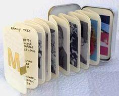 Altoid tin mini photo album