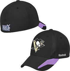 Hockey fights cancer Pittsburgh Penguins hat