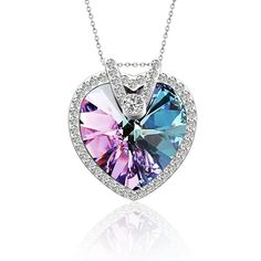 Pealrich Love Heart Fashion Pendant Necklace with SWAROVSKI Crystal,Great Gifts for Women * Startling review available here  : Fashion Jewelry