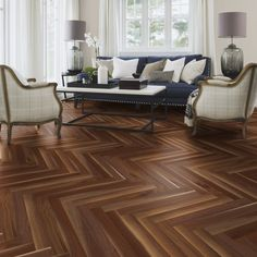 American Baltic Walnut comes in 2 layer flooring with parquet pattern and available in Natural Oil and Satin Lacquer finish.  The finish on the oak provides protection and heightens the rich colour variations across the walnut.