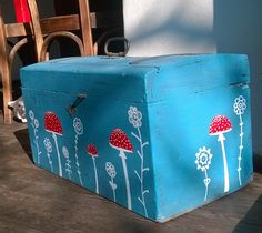 recycled old case - because I love fly agarics:-)- my work