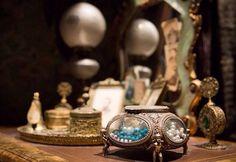 Solid Wood Miniature Hollow Music Box ♫  Phantom of the Opera Masquerade ♫
