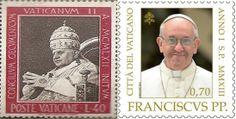 Sellos Papa Francisco y Juan XXIII