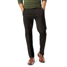 Men's Dockers® Smart 360 Flex Slim Tapered Fit Workday Khaki Pants, Size: 32X32, Black