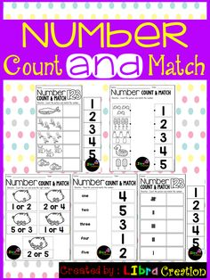 This product includes five different activities how to teach your little learner to learn the numbers. Easy and fun to learn the number.  Preschool, Preschool Worksheets, Kindergarten, Kindergarten Worksheets, Number, Number Writing Practice, Number Trace & Color, Number Color & Sort, Number Count & Match, Number Activities, Number Worksheet.