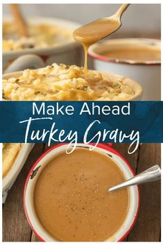 MAKE AHEAD TURKEY GRAVY is an absolute must for an easy and stress free Thanksgiving! YES It's possible to make Turkey Gravy without drippings and YES you can make it ahead of the big day. Once we learned How to Make Turkey Gravy we have never gone back to store-bought.