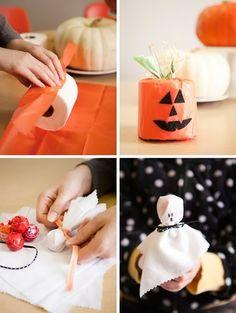Easy pumpkin and ghost Halloween treats