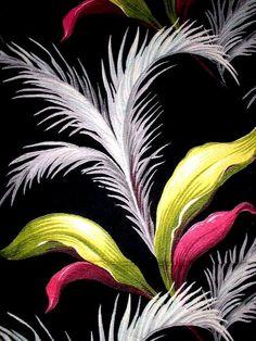 Photo 55 of Vintage Barkcloth Style Names Tropical Fabric, Tropical Design, Tropical Prints, Palm Print, Indigo Prints, Retro Fabric, Tropical Paradise, Vintage Textiles, Modern Prints