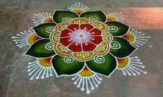 Rangoli Designs Latest, Latest Rangoli, Simple Rangoli Designs Images, Rangoli Designs Flower, Colorful Rangoli Designs, Rangoli Ideas, Rangoli Designs Diwali, Diwali Rangoli, Flower Rangoli