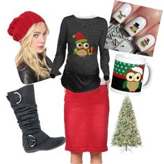 Christmas Mommy by hannah-vangiller on Polyvore featuring polyvore fashion style TAXI