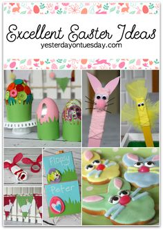 Excellent Easter DIY Projects Entertaining and sweet kid's crafts!