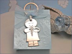 ►SALE!!!! Hurry ends soon! $20 for a Dozen Keychains with Favor Boxes & Ribbon! First communion boy box keychain favors #firstcommunion #firstcommunionfavors