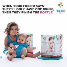 #Parenthood is a party, but every party has a pooper – #bloomBaby is here for the cleanup. #BabiesAreDrunkAdults #MomLife #AmazonMom #ThatMomentWhen
