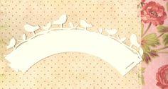 CUPCAKE WRAPPERs Bird songbird party decoration. $9.95, via Etsy.