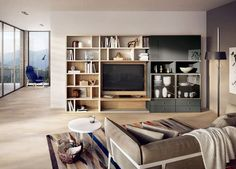 Contemporary TV wall unit MEGA-DESIGN  hülsta