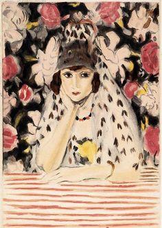 Woman in Headdress Henri Matisse  오늘 발견한 그림 :)