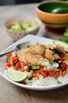 Fish Taco Bowls | ateaspoonofhappiness.com