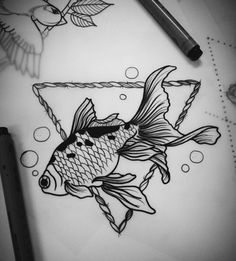 Image via We Heart It #ink #inked #tattoo #Tattoos #fishtattoo #tatouages #inkedup #tatouage​ #madameinked