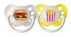 NUK Pacifier Gift Set  Hamburger Pacifier  by MomandBabyBoutique