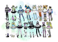 CLOSED-Medium outfits by Guppie-Adopts on DeviantArt