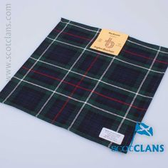 MacKenzie Tartan Pocket Square. Free Worldwide Shipping Available