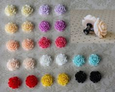 Elegant large rose plugs for gauged or stretched ears by Boholobes, $16.00