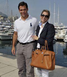 Luis Alfonso de Borbón y Margarita Vargas en el Concurso de Saltos de Montecarlo