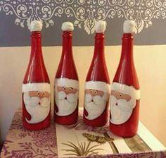 Papai Noel na garrafa!