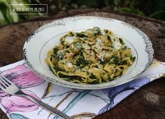 Tagliatelle ze szpinakiem i gorgonzolą
