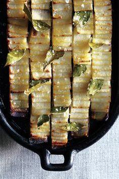 Roasted domino potato