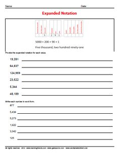 Worksheet Expanded Notation Worksheets expanded form notation and dr who on pinterest worksheets worksheetsdirect com