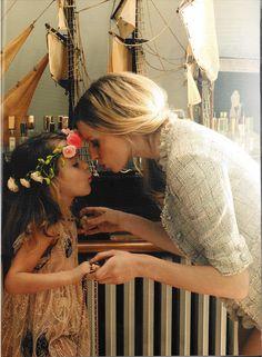 Mom-Daughter kiss