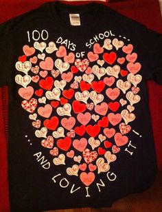 100th Day of School tshirt I made for our 100th Day Fashion Show :)