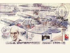 Blue Prints Enterprise NCC-1701-D