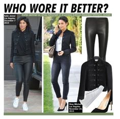 """Who Wore It Better?Kylie Jenner or Shay Mitchell in Express Edition Beaded Military Jacket"" by kusja ❤ liked on Polyvore featuring Manolo Blahnik, adidas Originals, women's clothing, women's fashion, women, female, woman, misses, juniors and WhoWoreItBetter"